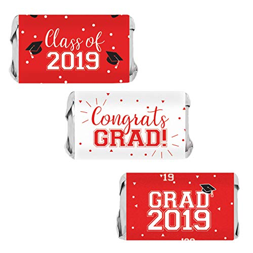 Class of 2019 Graduation Mini Candy Bar Wrappers | 54 Stickers ()