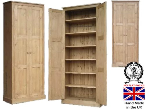 Pantry Cabinet: Door Pantry Cabinet with % Solid Oak Cupboard ...