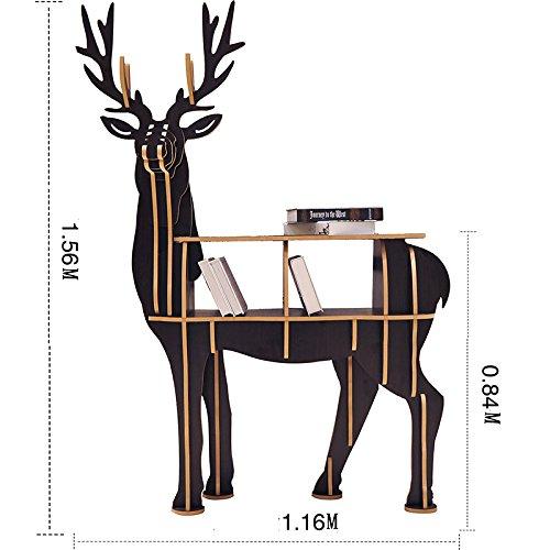 ANDEa 創造的な動物モデリング床棚シェルフ、多機能ベッドルームテーブルホームデコレーションラックリビングルームウッドビッグオーナメント 独創性 ( 色 : #4 ) B075674HNY #4