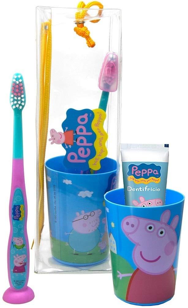 Titolo: Mr White - Travel Kit/Pochette Peppa Pig : juego de higiene dental compuesto de cepillo de dientes manual con Ventosa, Pasta de dientes ML, ...