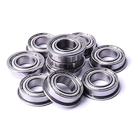 F605ZZ 25 PCS 5x14x5 mm Metal Shielded FLANGED PRECISION Ball Bearing Set