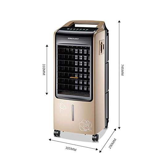 Ventiladores CJC Aire Enfriador Eléctrico Calentador Enfriamiento Calefacción Doble Utilizar Humidificador Purificador Radiador Piso Portátil 7 Litro Agua 8 ...