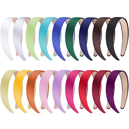 SIQUK Headbands Non slip Headband Colorful