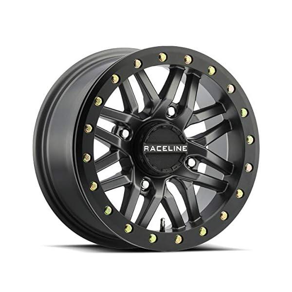 14-19-POLARIS-RANRZR1000XE-Raceline-Ryno-Beadlock-Wheel-FrontRear-15X7-4156-52-Gunmetal