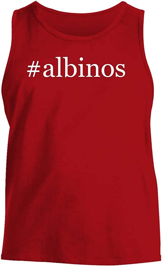 #Albinos - Men'S Hashtag Comfortable Tank Top, Red, Large