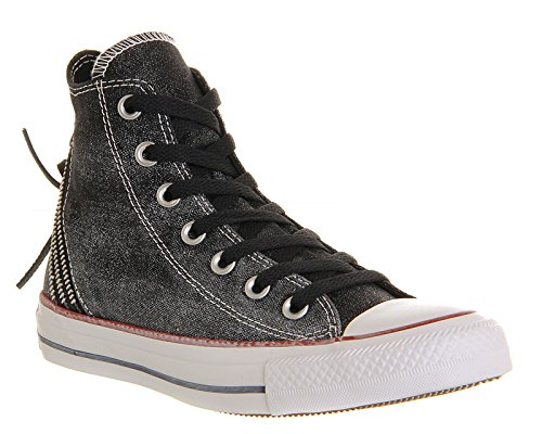 Converse Womens Chuck Taylor All Star Femme Sparkle Wash Tri Zip HI Trainers Black Sparkle Wash lrBVtKFv