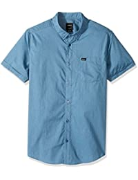 RVCA Men's Speckles Short Sleeve Shirt