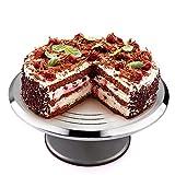 Birthday Cake Stand, Uten 12'' Rotating Round Cake Stand Aluminium Cake Decorating Supplies