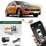 Auto Smartphone Remote Control Locking Kit,Smart Key 2 Way Lgnition Trunk Control/Unlock Shaking Hand Mobile Phone APP Keyless Entry Car Alarm System -  GIORDON