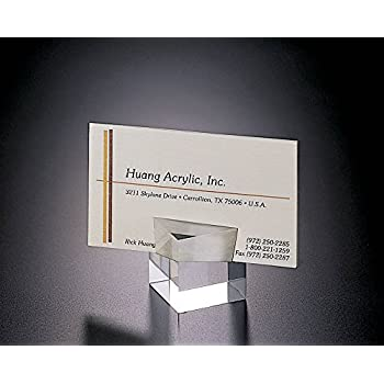 Amazon acrylic lucite set of 2 cube place card or business card acrylic lucite set of 2 cube place card or business card holder colourmoves Gallery