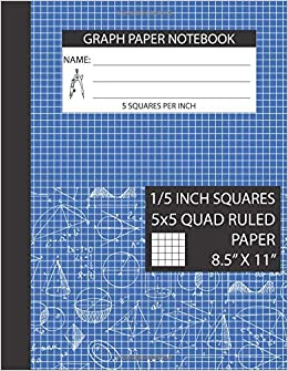 graph paper notebook 5 squares per inch graph paper notebook 1 5