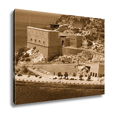 Ashley Canvas Christmas Fort Cartagena Spain, Kitchen Bedroom Living Room Art, Sepia 24x30, AG6519133 by Ashley Canvas