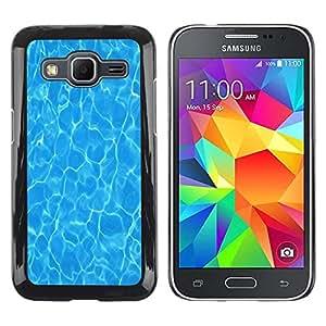FECELL CITY // Duro Aluminio Pegatina PC Caso decorativo Funda Carcasa de Protección para Samsung Galaxy Core Prime SM-G360 // Water Surf Sun Summer Sea Reflective