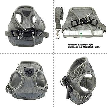Negro, XL QiCheng/&LYS Chaleco de Viaje Regular de Malla Transpirable con Cintur/ón de Seguridad para Perros y Gatos Chaleco de Seguridad para Mascotas