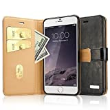 Apple iPhone 6 Plus/6s Plus Case- Labato Handmade Genuine Leather Wallet Cover with Secure Magnetic Closure and Stand Function for iPhone 6 Plus (2014) and New Release iPhone 6s Plus (2015) [Card Slots][Compatible with IOS 8] -Flip Folio Case in Black LBT-I6L-04Z10