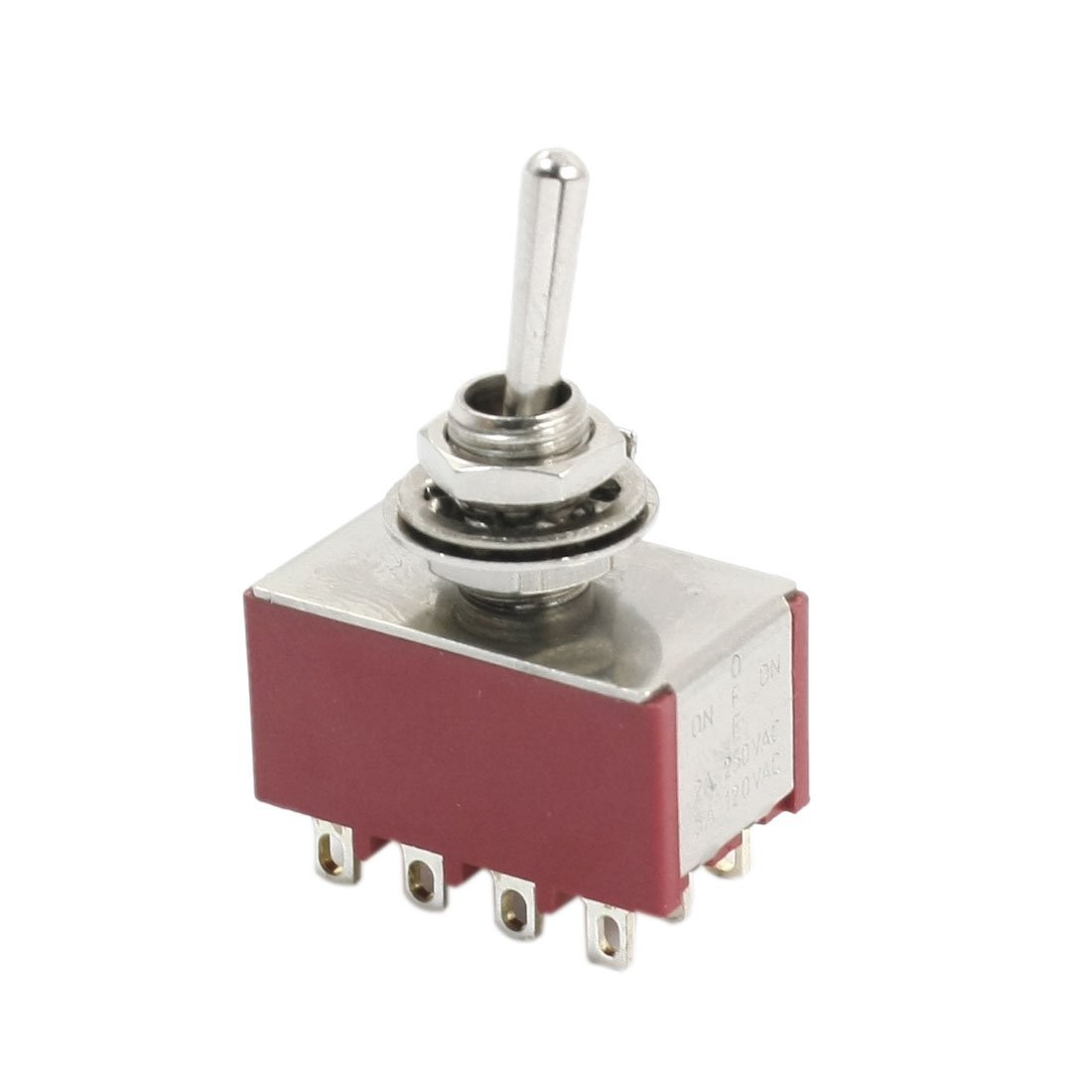 sourcingmap/® 4PDT 3 Positions Locking Power Control Toggle Switch AC250V//2A 120V//5A