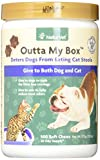 Product review for NaturVet Outta My Box Cat Stool Deterrant for Dogs and Cats (500 Soft Chews)