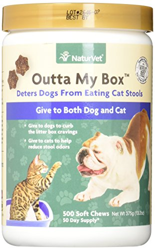 NaturVet Outta My Box Cat Stool Deterrant for Dogs and Cats (500 Soft Chews)