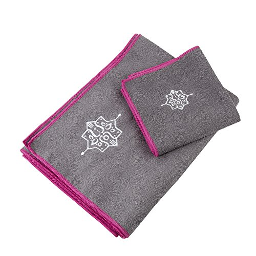 Yogaaddict Yoga Mat Towel And Hand Towel Combo Set: Maoko Sports Cooling Towel- Fast Drying Fitness Towel