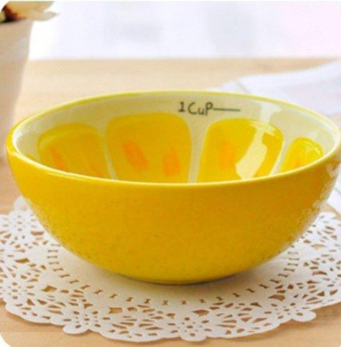 Yamu Hand Painted Fruit Bowl Salad Cute Bowl (1pcs, lemon)