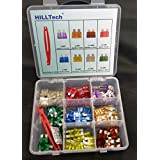 US Grade 120 PCS w/Puller Fuse Kit Set Assorted, 3A, 5A, 7.5A, 10 A, 15 A, 20 A, 25 A, 30 A ATO-120P (includes : 8 Ratings with 15 pcs each plus Puller / Extractor ) ATO-120P