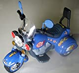 Allkindathings 3 Wheel Harley Chopper Trike Motorcycle for Kids, Battery Powered Ride On Toy Blue