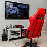 Sleekform Ergonomic Gaming Chair - Large - MMORPG, FPS & PvP Exclusive - High-Back Office Chair - Swivel Computer Chair With Lumbar Support & Headrest - Reclines Back 160 Degrees - (AAA)