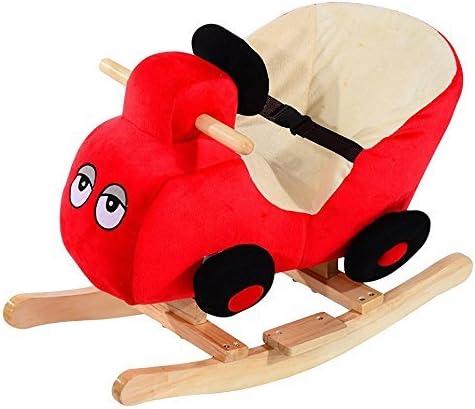 Homcom caballo balancín columpio infantil animales de peluche caballito balancín Baby Balancín juguete regalo para niños, Auto: Amazon.es: Jardín