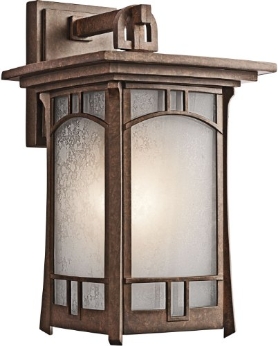 Kichler 49451AGZ, Soria Cast Aluminum Outdoor Wall Sconce Lighting, 150 Watts, Aged Bronze -