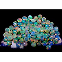 3mm Natural Ethiopian Welo Opal Cabochon Round 10 Pieces - Natural Loose Gemstone - Multi Fire Opal