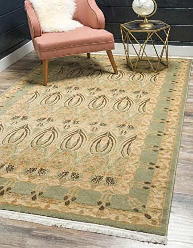 Unique Loom Edinburgh Collection Oriental Traditional French Country Light Green Area Rug 12 2 x 16 0