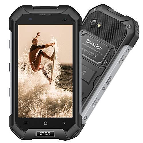 Blackview BV6000s Rugged Phone Unlocked Outdoor 4G Smartphone Rugged Mobile Phone Beast - IP68 Waterproof Dustproof Shockproof - 4500mAh Battery 16GB ROM PTT|SOS|Compass|GPS|GLONASS|NFC - Black (Mobile Phone Rugged)