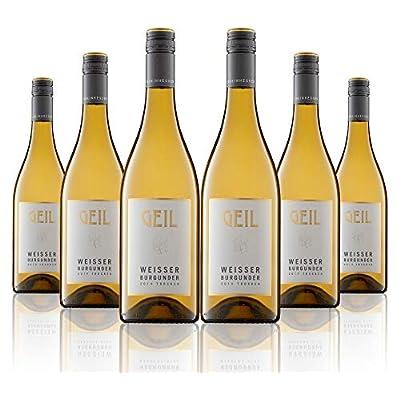 6 Flaschen Johann Geil | Weisser Burgunder trocken | 2019 | Deutscher Wein | Qualitätswein | Oekonomierat Johann Geil…