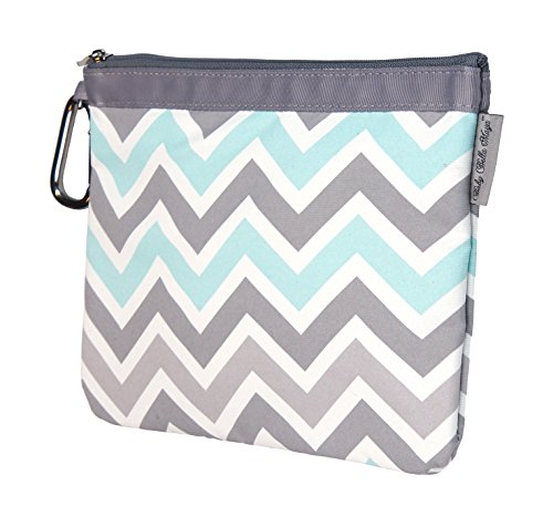 Baby Bella Maya Diaper Clutch, Peek-a-Blue
