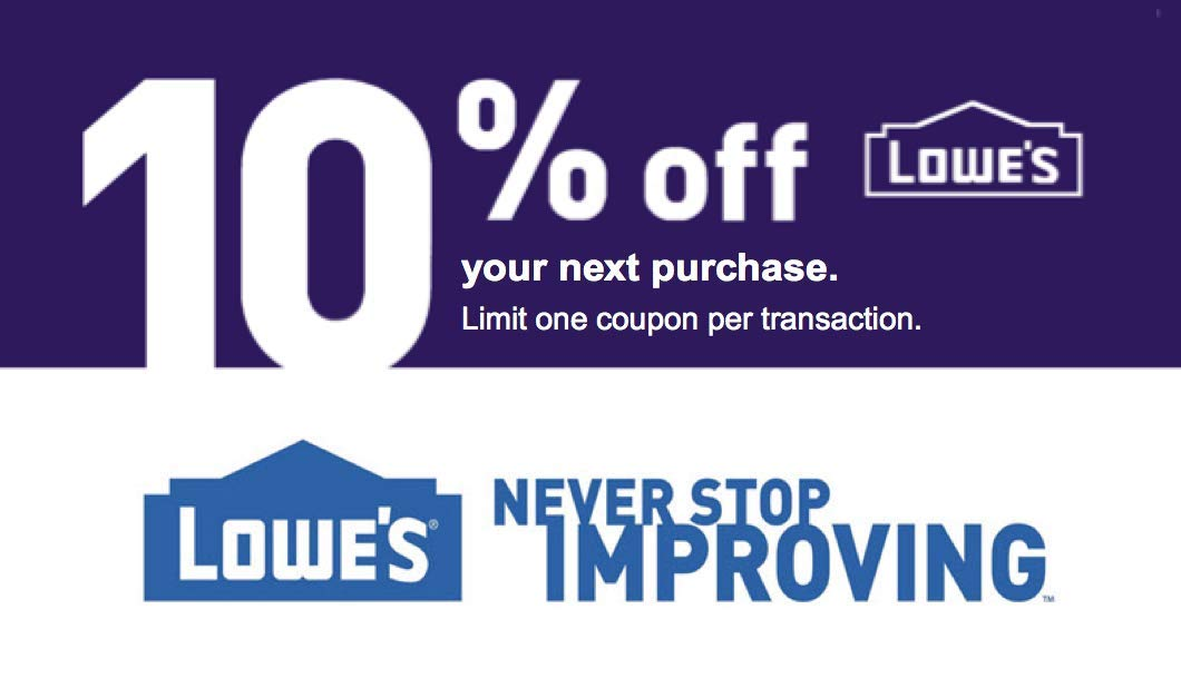 lowes coupon codes january 2019