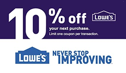 PRINTABLE Lowes 10% off PRINTABLE Coupon with ASAP Email Delivery