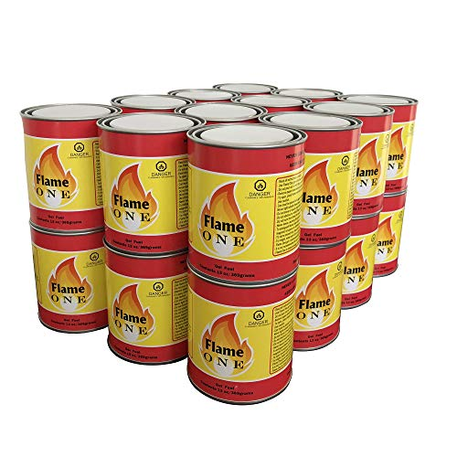 - Flame One Indoor or Outdoor Premium Gel Fireplace Fuel in 13 Oz Cans (24 Pack)
