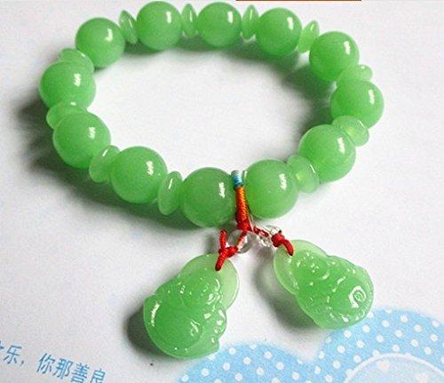 Imitation jade bead bracelet green jade Guanyin Buddha bracelet brave bracelet jewelry Dragon Boat Festival