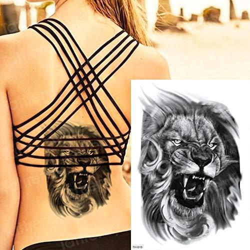 tzxdbh León Tatuaje Temporal Animales Tigre dragón Tatuaje ...
