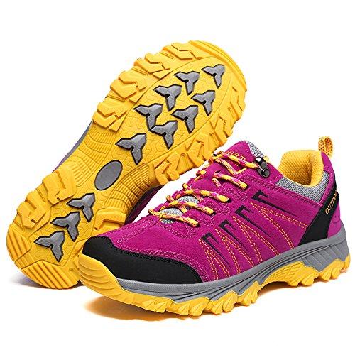 Passeggiata Montagna da WANPUL Donna Uomo Porpora Trekking Scarpe Escursionismo Sportive da Scarpe Impermeabili Arrampicata All'aperto Sneakers Tr1TvWOB6