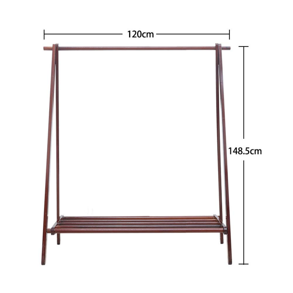 L 120x148cm(47x58inch) Bamboo Clothes Rack Portable,Extra Large Garment Rack,Storage Box Shelves for Entryway and Bed Room Patented Design-D 75x148cm(30x58inch)