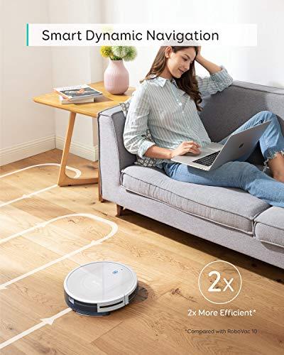 eufy RoboVac G10 Hybrid, aspirapolvere Robot autoricaricabile a 2.000 Pa, Navigazione dinamica Intelligente, Sistema 2 in 1 spazza e Lava, Wi-Fi, Ultra Sottile, Silenzioso, per Pavimenti in Legno 2 spesavip