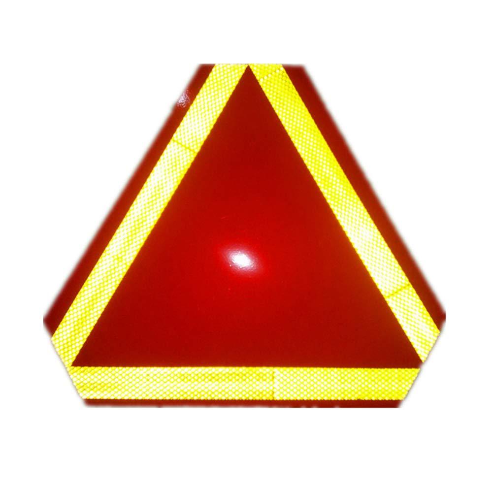 Advertencia reflector m/óvil Muestra lenta del veh/ículo con cinta reflectante de seguridad Tri/ángulo de la se/ñal de peligro para el remolque del cami/ón