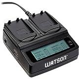 Watson Duo LCD Charger with 2 EN-EL14 / EN-EL14A Battery Plates - For Nikon EN-EL14/14A Type Battery