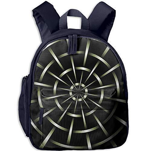 3D Mesh Black Metal Spider Web Children School Bag Book Backpack Outdoor Travel Pocket Double Zipper