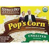 Newman's Own Organics Pop'S Corn, Organic Microwavepopcorn, Unsalted, 8.4 oz
