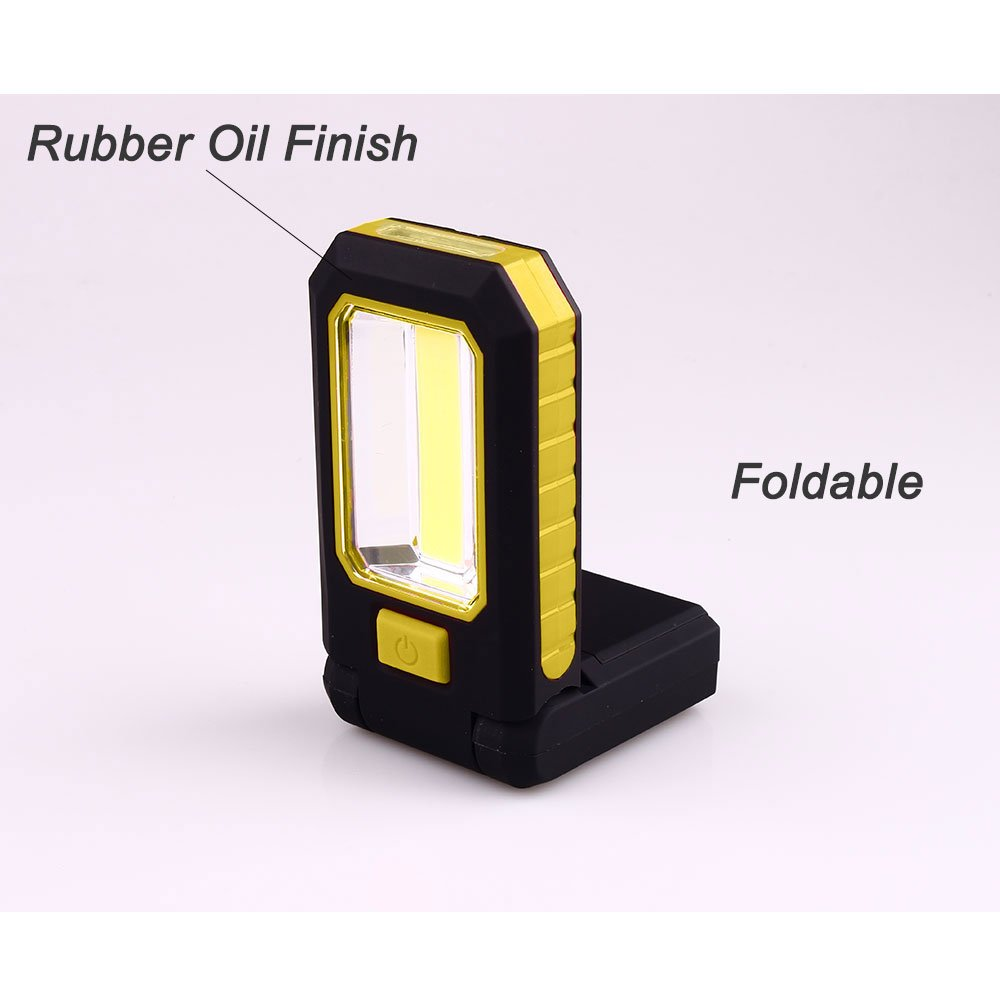 Battery Work Light , with Flashlight Magnetic Stand for Emergency Camping Hiking Household Workshop Batteries Included Black/Yellow iWireless USA