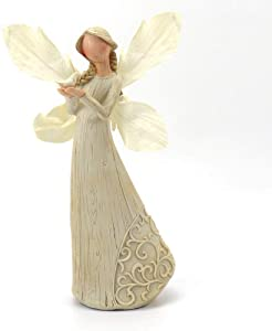 StoneHouse Vintage Resin Angel and White Dove Home Decor Festive Decoration Wedding Ornament. 9 Inches