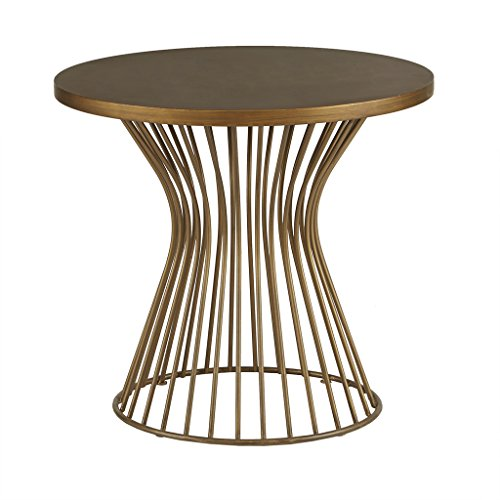 Madison Park FPF17-0355 Mercer Accent Metal Wired Frame Hour Glass Shaped Retro Design Mid-Century Modern Style Side/End Table, 24 Inch Wide, ()