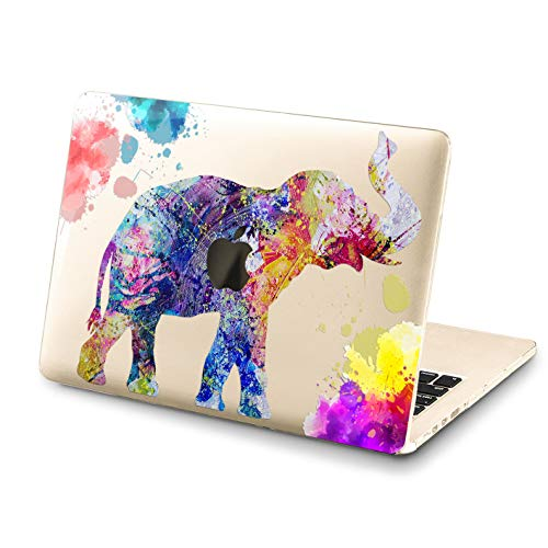 Lex Altern MacBook Pro 15 inch 2018 Case Top Watercolor Pattern Mac Air 13 2017 A1989 A1708 A1466 Retina Nature 12 Cover Pink Hard 11 Shell Apple Clear 2016 Elephant Laptop Protective Print Touch Bar (Case Retina Pro Elephant Macbook)